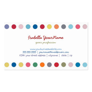 Polka Dots - Color Love Pack Of Standard Business Cards