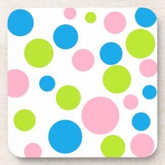 """Polka Dots"" Cork Coasters"