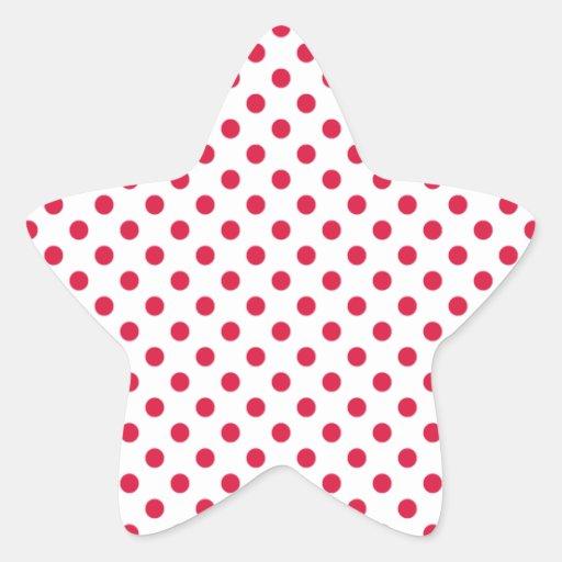 Polka Dots - Crimson on White Sticker