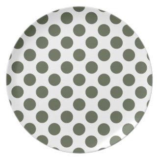 Polka Dots Cypress Plates
