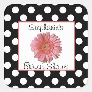Polka Dots & Daisy Bridal Shower Sticker