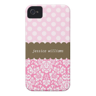Polka Dots & Damask iPhone 4 Cases