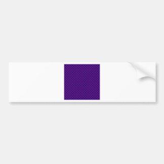 Polka Dots - Dark Blue on Dark Violet Bumper Stickers