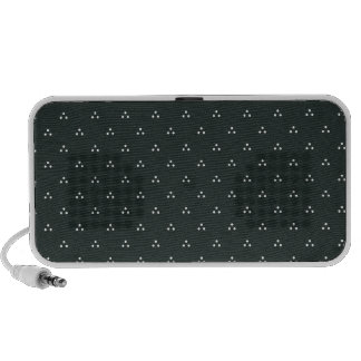 Polka Dots Dark Green Laptop Speakers