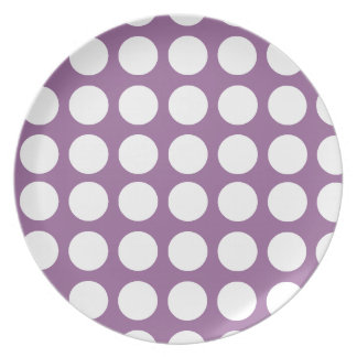 Polka Dots Design Party Plate