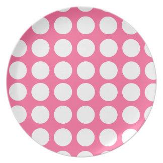 Polka dots Design Dinner Plate