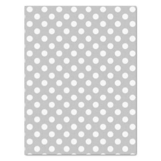 "Polka Dots Design Silver 15"" X 20"" Tissue Paper"