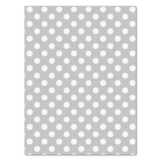 Polka Dots Design Silver Tissue Paper