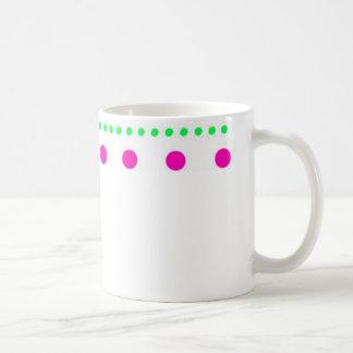 polka dots dots scored coffee mug