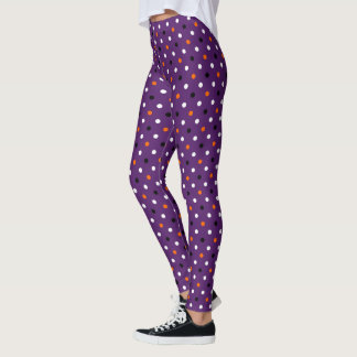 polka dots dotty halloween pattern leggings