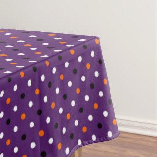 polka dots dotty halloween pattern tablecloth