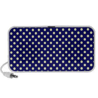 Polka Dots - Electric Yellow on Dark Blue Speaker System