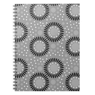 Polka Dots Floral Notebooks : Grey