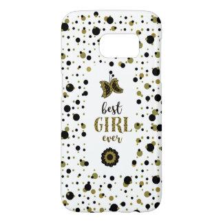Polka Dots Golden Black Spring Butterfly Best Girl
