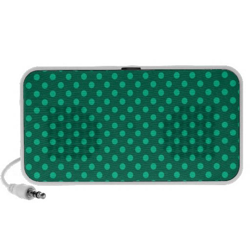 Polka Dots - Green 5a Travelling Speakers