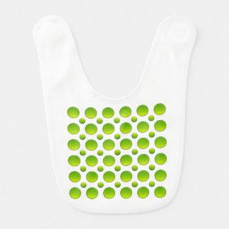Polka dots green element bib