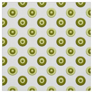 Polka dots green element fabric