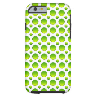 Polka dots green element tough iPhone 6 case