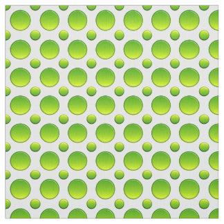 Polka dots green pattern fabric