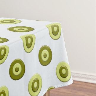 polka dots green retro pattern. tablecloth