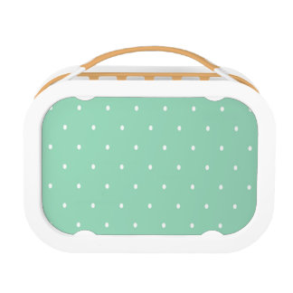 Polka Dots, Green, White Lunch Boxes