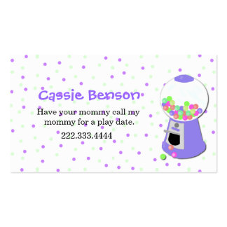 Polka Dots Gumball Machine Play Date Card Pack Of Standard Business Cards