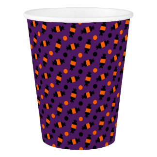 polka dots halloween candies pattern paper cup