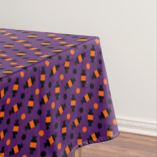 polka dots halloween candies pattern tablecloth