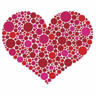 Polka Dots Heart Photo Sculpture