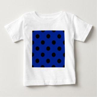 Polka Dots Huge - Black on Imperial Blue Tee Shirts