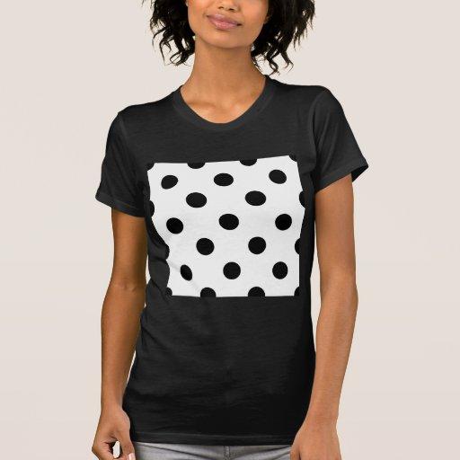 Polka Dots Huge - Black on White Shirt