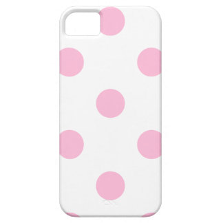 Polka Dots Huge - Cotton Candy on White iPhone 5 Cases