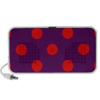 Polka Dots Huge - Red on Violet Portable Speakers