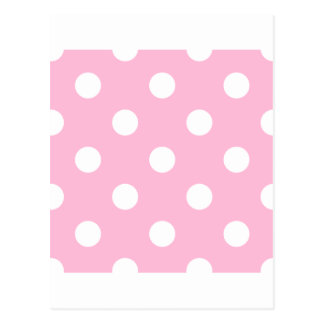 Polka Dots Huge - White on Cotton Candy Postcards