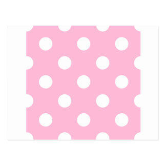 Polka Dots Huge - White on Cotton Candy Postcard