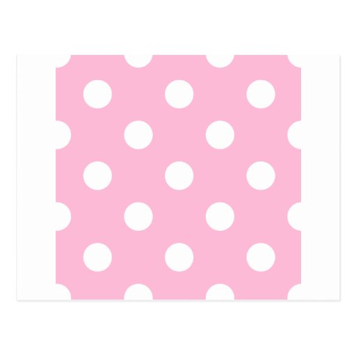 Polka Dots Huge - White on Cotton Candy Post Card
