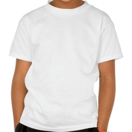Polka Dots Huge - Yellow on White Tshirts
