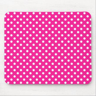 Polka Dots in Deep Pink Mousepad