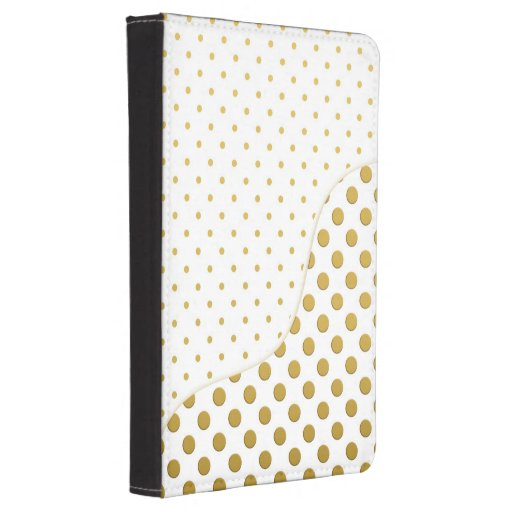 Polka Dots in Gold and White Kindle 4 Case