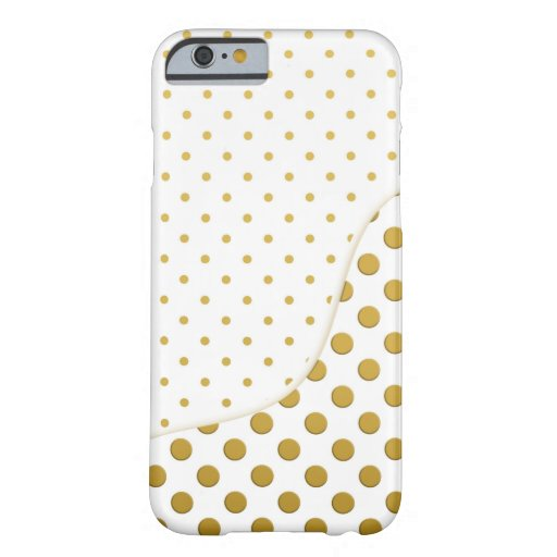 Polka Dots in Gold and White iPhone 6 Case