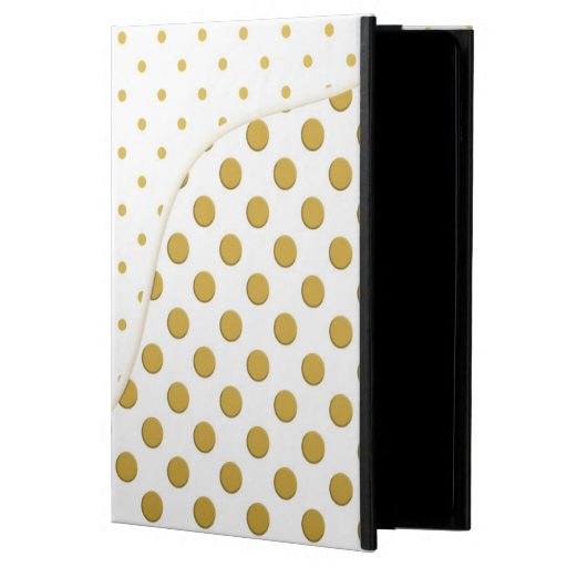 Polka Dots in Gold and White iPad Air Covers