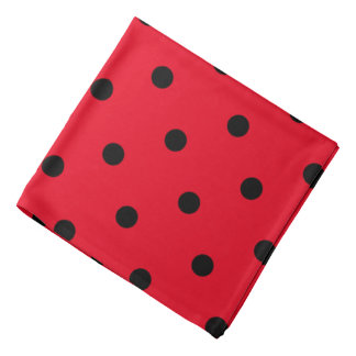 Polka Dots in Red and Black Kerchief