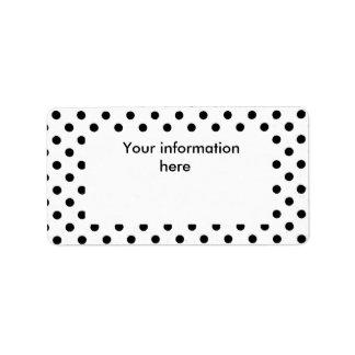 polka dots label