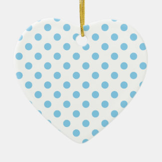 Polka Dots Large - Baby Blue on White Ornament