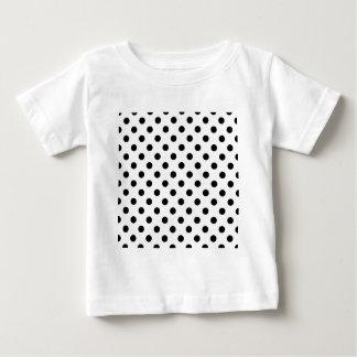 Polka Dots Large - Black on White Shirt