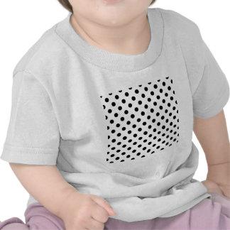 Polka Dots Large - Black on White Shirts