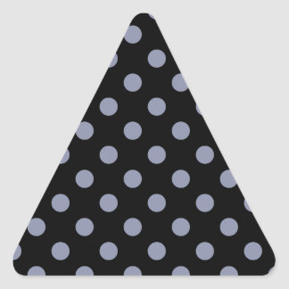Polka Dots Large - Cool Gray on Black Triangle Sticker