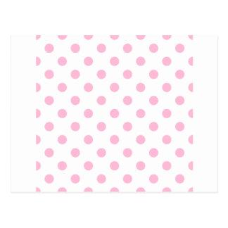 Polka Dots Large - Cotton Candy on White Postcard
