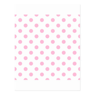 Polka Dots Large - Cotton Candy on White Post Cards