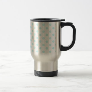 Polka Dots Large - Pale Blue on White Mugs